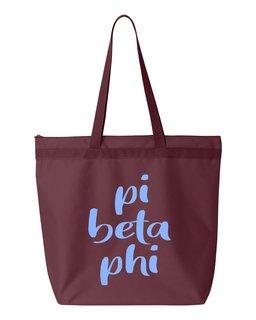 Pi Beta Phi Script Tote Bag