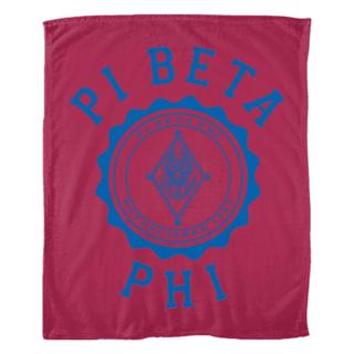 Pi Beta Phi Seal Fleece Blanket