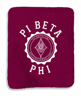 Pi Beta Phi Seal Sherpa Lap Blanket