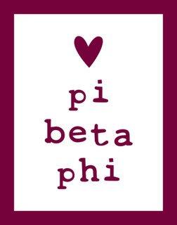 Pi Beta Phi Simple Heart Sticker