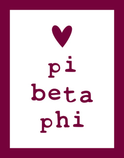 Pi Beta Phi Simple Heart Sticker