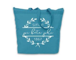 Pi Beta Phi Since Established Tote bag
