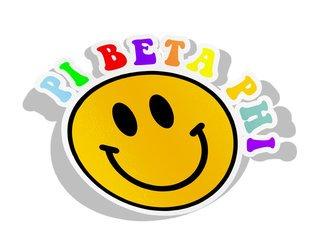 Pi Beta Phi Smiley Face Decal Sticker