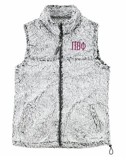 Pi Beta Phi Smoky Grey Sherpa Vest
