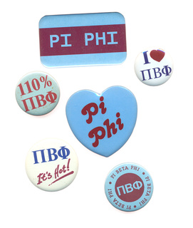 Pi Beta Phi Sorority Buttons 6-Pack