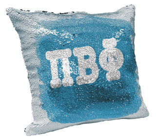 Pi Beta Phi Sorority Flip Sequin Throw Pillow Cover