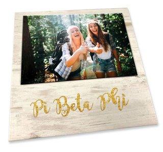 Pi Beta Phi Sorority Golden Block Frame