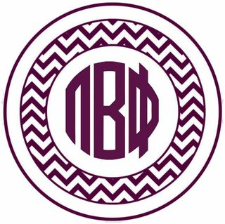 Pi Beta Phi Sorority Monogram Bumper Sticker