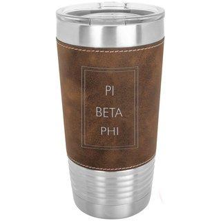 Pi Beta Phi Sorority Leatherette Polar Camel Tumbler