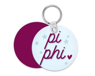 Pi Beta Phi Star Key Chain