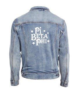 Pi Beta Phi Star Struck Denim Jacket