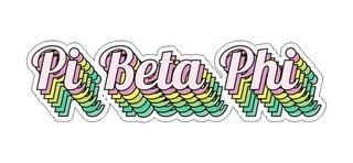 Pi Beta Phi Step Decal Sticker