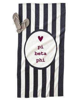 Pi Beta Phi Striped Beach Towel