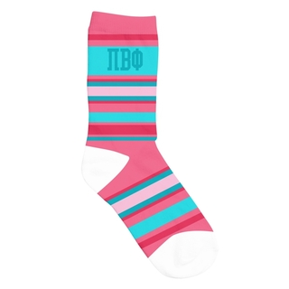 Pi Beta Phi Striped Crew Socks