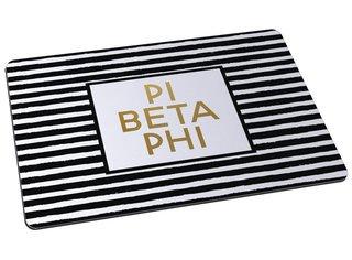Pi Beta Phi Striped Gold License Plate