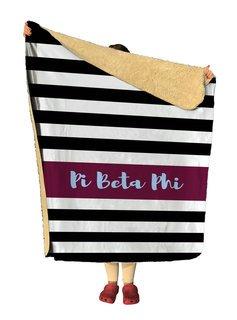 Pi Beta Phi Stripes Sherpa Lap Blanket