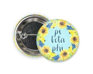 Pi Beta Phi Sunflower Button