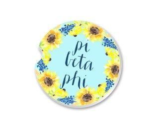 Pi Beta Phi Sunflower Car Coaster