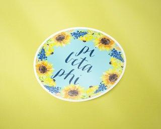 Pi Beta Phi Sunflower Sticker Sticker