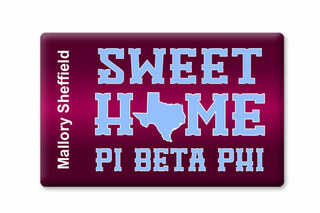 Pi Beta Phi Sweet Home Ceramic Magnet
