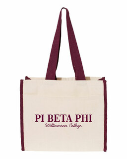 Pi Beta Phi Tote with Contrast-Color Handles