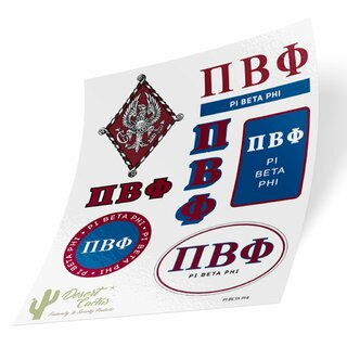 Pi Beta Phi Traditional Sticker Sheet