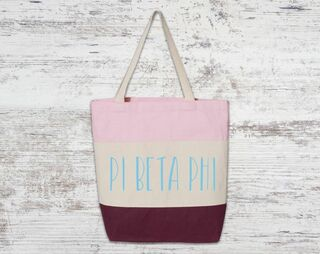 Pi Beta Phi Tri Color Tote Bag