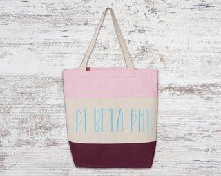 Pi Beta Phi Tri Color Tote Bag