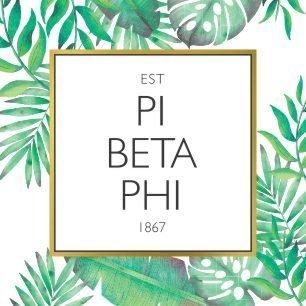 Pi Beta Phi Tropical Sticker Decal