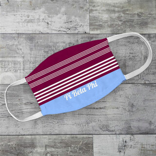 Pi Beta Phi Two Tone Stripes Face Mask