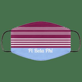 Pi Beta Phi Two Tone Stripes Face Mask