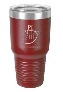 Pi Beta Phi Vacuum Insulated Mascot Tumbler