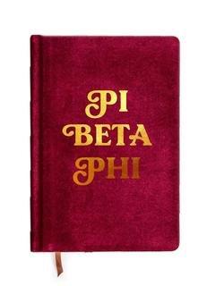 Pi Beta Phi Velvet Notebook