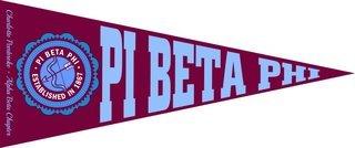 Pi Beta Phi Wall Pennants
