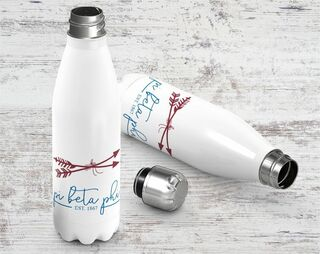 Pi Beta Phi Established Stainless Steel Water Bottle