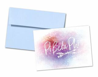 Pi Beta Phi Watercolor Script Notecards(6)
