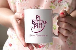 Pi Beta Phi White Mascot Coffee Mug