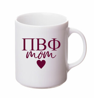 Pi Beta Phi White Personalized Coffee Mug
