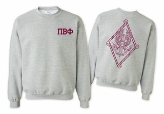 Pi Beta Phi World Famous Crest - Shield Crewneck Sweatshirt- $25!
