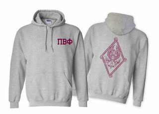 Pi Beta Phi World Famous Crest - Shield Hooded Sweatshirt- $35!