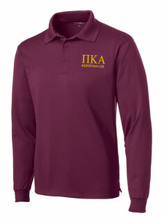 Pi Kappa Alpha- $35 World Famous Long Sleeve Dry Fit Polo
