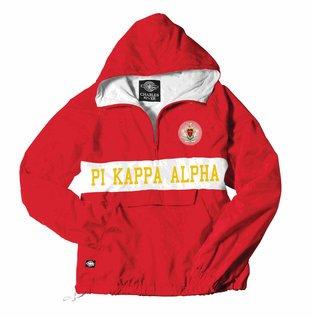 Pi Kappa Alpha Charles River Custom Stripe Greek Pullover Anorak