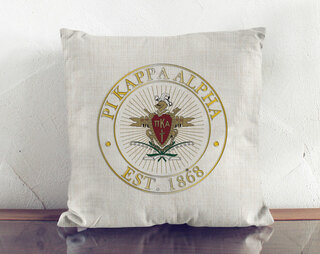Pi Kappa Alpha Crest Linen Pillow