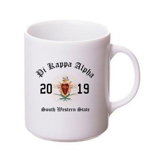 Pi Kappa Alpha Crest & Year Ceramic Mug