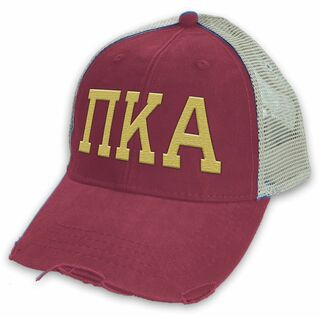 Pi Kappa Alpha Distressed Trucker Hat