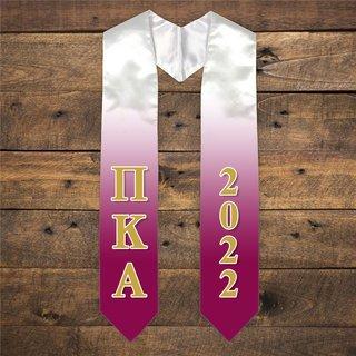 Pi Kappa Alpha Extra Fancy Greek Graduation Stole W Year