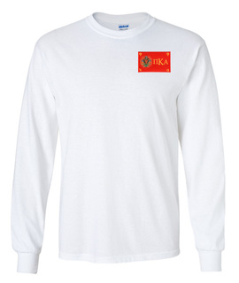CLOSEOUT - Pi Kappa Alpha Flag Patch Long Sleeve Tee