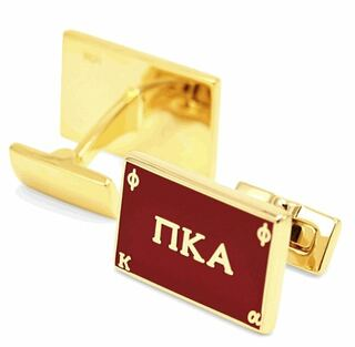 Pi Kappa Alpha Gold Plated Flag Cufflinks