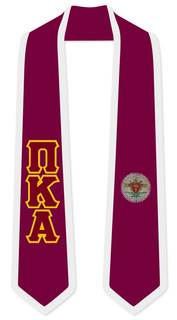 Pi Kappa Alpha Greek 2 Tone Lettered Graduation Sash Stole
