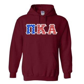 Pi Kappa Alpha Greek Letter American Flag Hoodie